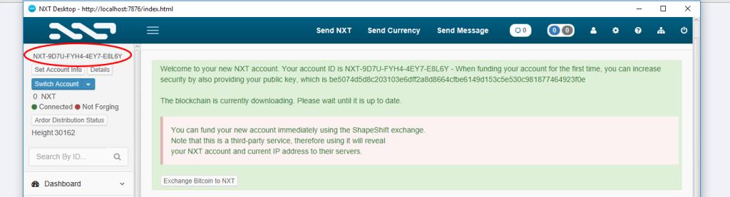 قبل از اينكه شروع به استخراج  ارز NXT كنيم نياز به تهيه مقدارى NXT داريم.