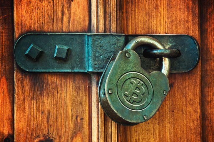عکس بیت کوین - قفل و کلید