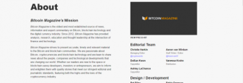 شروع به کار Bitcoin Magazine