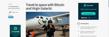 پذیرش بیت کوین در space travel