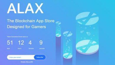 ALAX : معرفی پروژه بر پایه بلاکچین و با تمرکز بر بازی ها و برنامه ها + عرضه توکن (TGE)