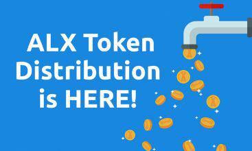 فرایند توزیع توکن های ALX توسط ALAX که در رویداد TGE فروخته شده است