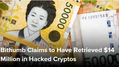 صرافی Bithumb ادعا می کند که 14 میلیون دلار از رمزارزهای هک شده را بازیابی کرده است