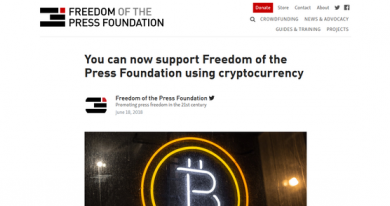 یک گام مهم در جهت فراگیر شدن رمزارز ها: بنیاد آزادی مطبوعات بیت کوین می پذیرد