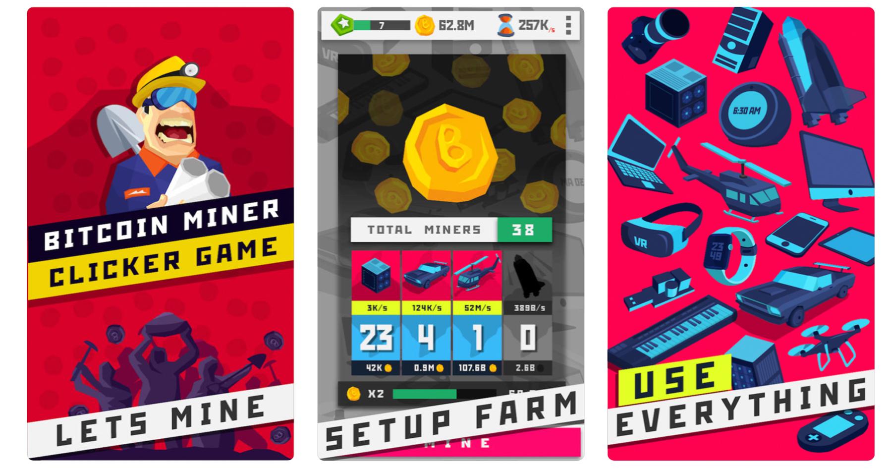 Bitcoin Miner: Clicker Game
