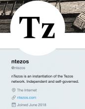 اکانت توییتر nTezos