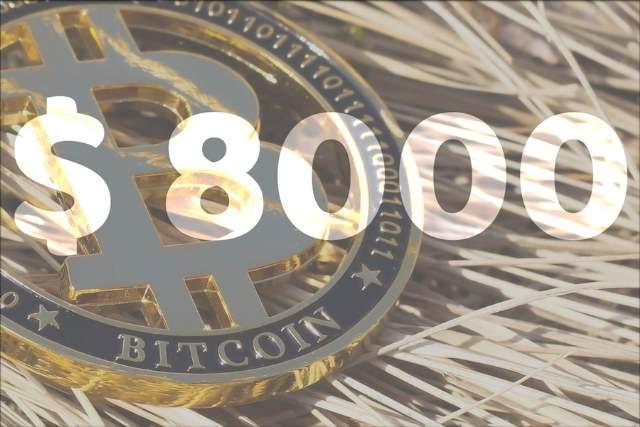 خبر اختصاصی: بازگشت قیمت بیت کوین به کانال بالای 8000 دلار