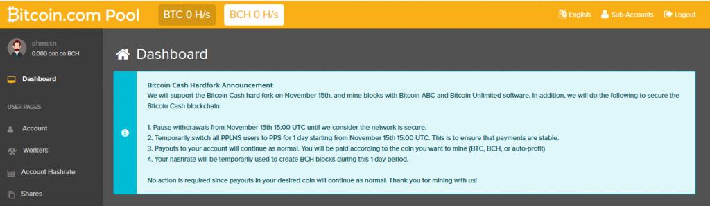 Bitcoin.com و هدایت کل هش به سوی بیت کوین کش ABC