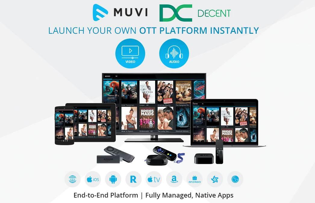 همکاری DECENT و Muvi در توزیع محتوای دیجیتال بر بستر بلاک چین