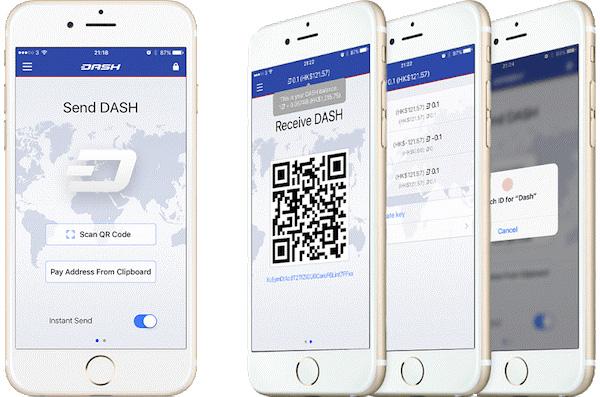 کیف پول دش DASH Core iOS