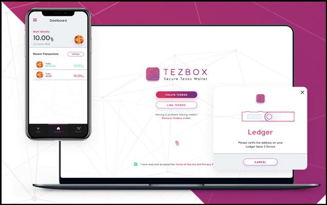 کیف پول تزوس - Tezbox