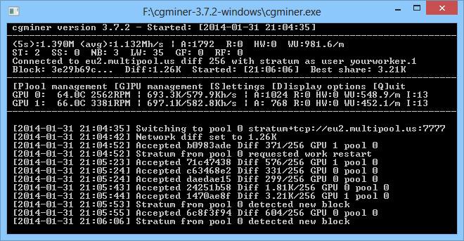 بهترین نرمافزار استخراج بیت کوین CG Miner